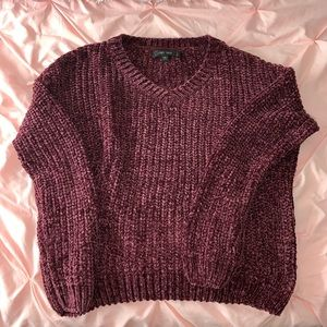 Maroon soft knitted sweater